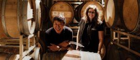 LangeTwins winemakers, David Akiyoshi & Karen Birmingham