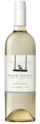 Bottle shot of the 2019 Sand Point Pinot Grigio