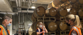 The 6th generation learns about winemaking